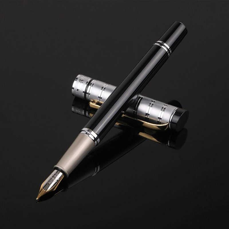 شحن مجاني فاخر الأعمال المعدنية الحبر قلم حبر الكلاسيكية تصميم الأعمال هدية توقيع العلامة التجارية الأقلام القلم شراء 2 إرسال هدية
