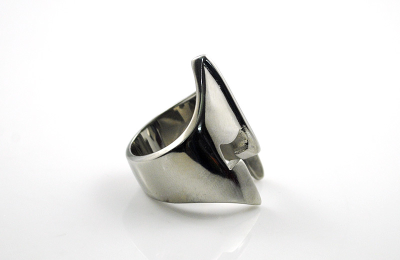 Stainless Steel Spartan Helmet Ring