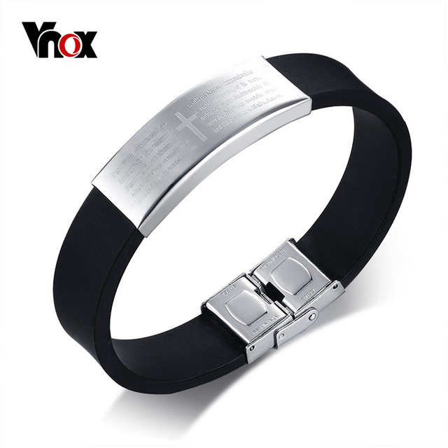 for bracelets stainless jewelry steel gay bracelet pin women fashion silicone bangle rubber men pride