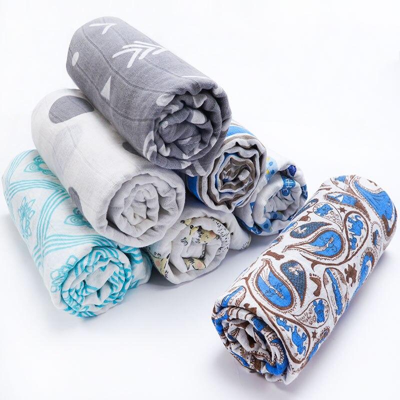Muslinlife Mode Stil Baby Swaddle Decke Baumwolle 2ply Musselin Empfang Decke Bettwäsche Infant Schlafen Baby Decke 110*110