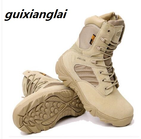 Army Work Shoes Leather Snow Boots Winter Autumn Men Military Boots Quality Special Force Tactical Desert