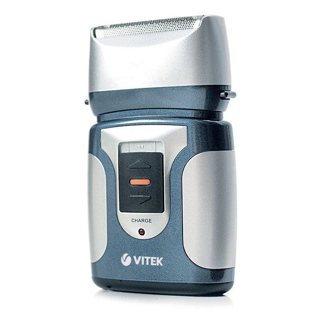 Бритва электрическая VITEK VT-1372 B (Время непрерывной работы 30 минут, быстрая зарядка за 2 часа, триммер, возможность промывки, щеточка для чистки, дорожный чехол)