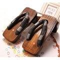 2017 классические Японские деревянные сабо тапочки летние мужские пляжные сандалии тапочки большие 45 ярдов горячая продажа # B1208