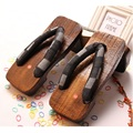 2017 classic Japanese wooden clogs slippers summer men's beach sandals slippers large 45 yards hot sale #B1208