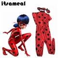 Itsameal Kids Miraculous Ladybug Cosplay Costumes Romper Clothing Girl Halloween Children Uniforms Set Halloween Party Jumpsuits