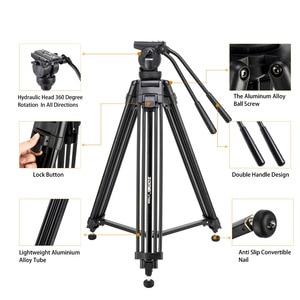 Image 3 - Zomei VT666 מקצועי מצלמה וידאו חצובה עם 360 תואר פנורמי נוזל ראש עבור DSLR למצלמות וידאו, DV, צילום