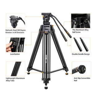 Image 3 - Zomei VT666 Professional Camera Video Tripod with 360 Degree Panoramic Fluid Head for DSLR Camcorder Video, DV, Photography