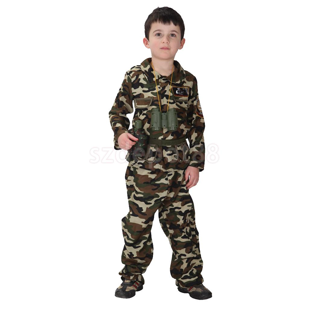 Free shipping children stage army costumes Halloween costume special ...