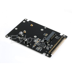 "OOTDTY Новый mSATA до 2,5 ""44PIN IDE HDD SSD mSATA в PATA конвертер адаптер карта + чехол"