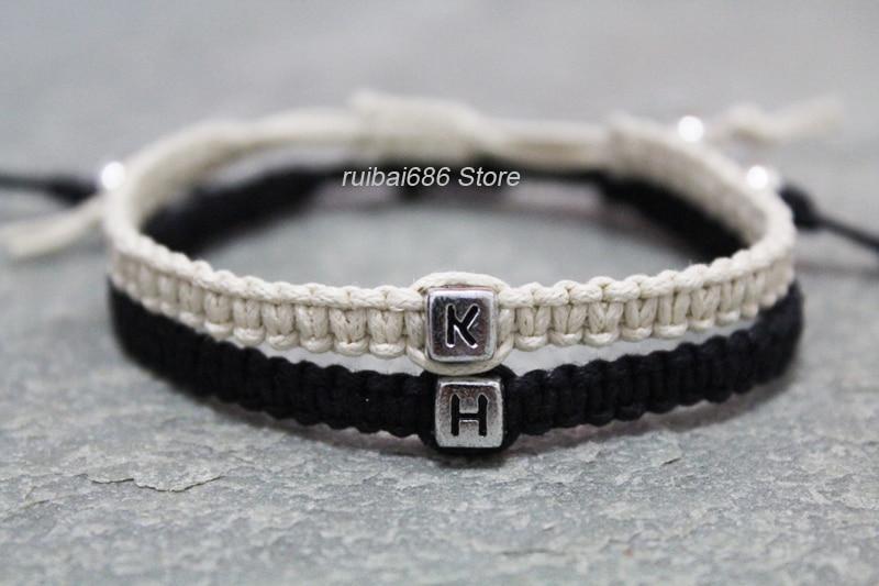 custom name bracelet couples bracelet his hers handmade. Black Bedroom Furniture Sets. Home Design Ideas