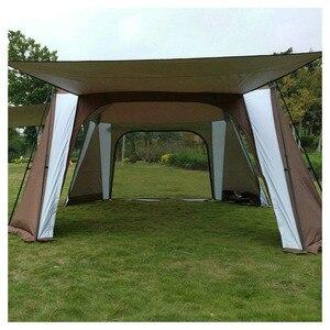 Image 4 - 5 8 사람 사용 야외 접는 텐트 빠른 자동 열기 Pergola 더블 레이어 캠핑 텐트 증가 방수 태양 대피소