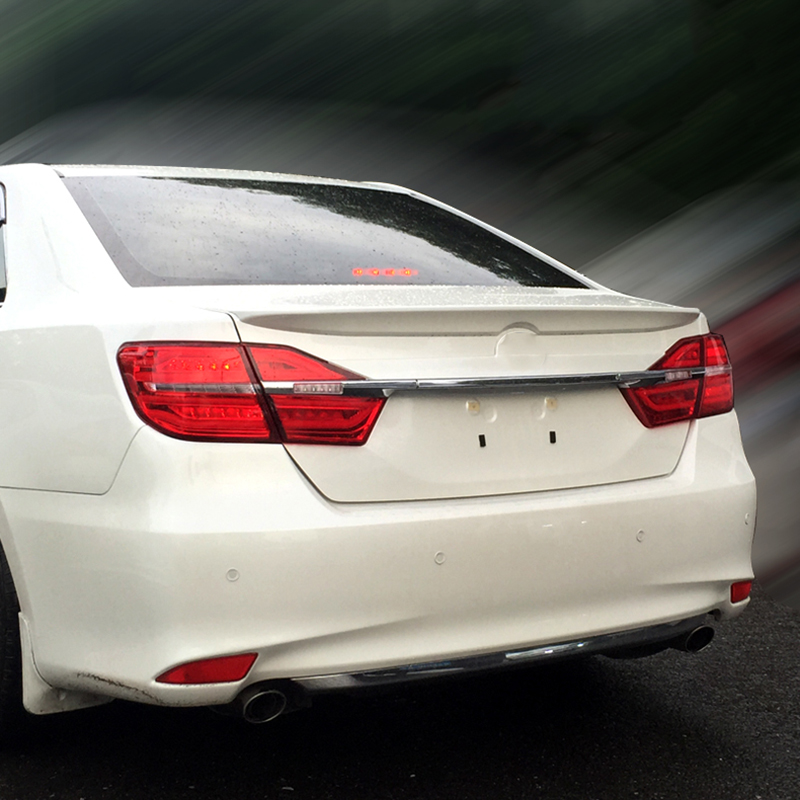 Car-Styling Rear Wing Trunk Spoiler Decorative Cover For Europe Toyota Camry 2012 2013 2014 2015 ABS Auto Accessories car styling camry