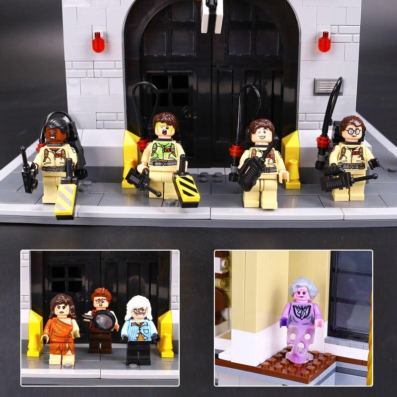 Ghostbusters Feuerwache Hauptsitz 16001 Modell Educational Building Kits Blöcke Spielzeug set Kompatibel mit Legoings 75827-in Sperren aus Spielzeug und Hobbys bei  Gruppe 3