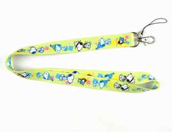 100 Pcs Dogs Cartoon Lanyard ID badge Holders Sport neck strap keychains Wholesale Free Shipping