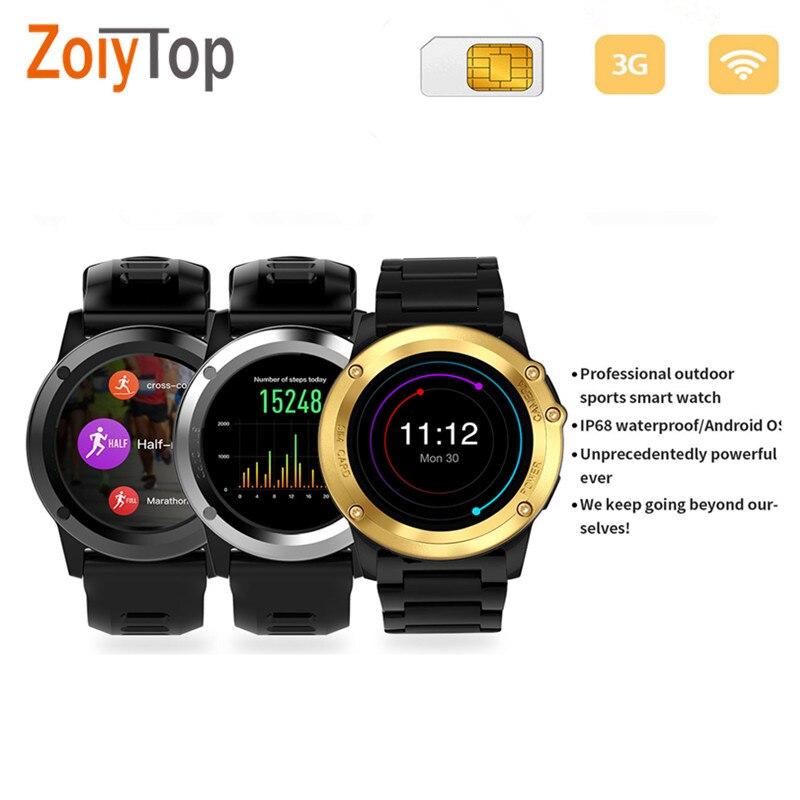 imágenes para H1 Bluetooth Monitor de Ritmo Cardíaco Del Deporte Del Reloj Inteligente Android Tarjeta SIM TF Smarttwach IP68 Impermeable GPS para Iphone Huawei xiaomi