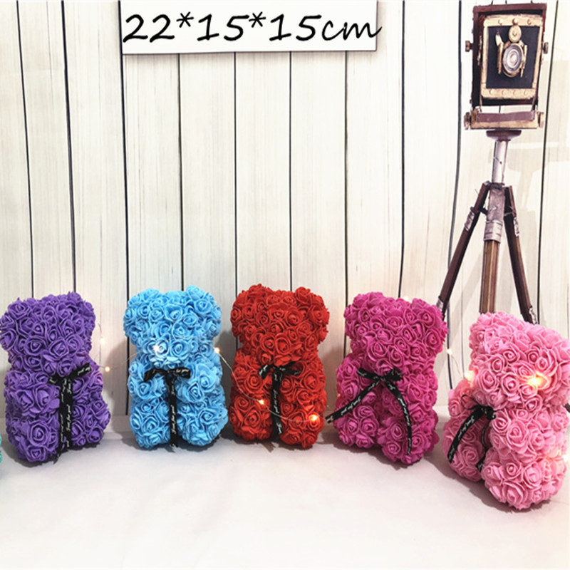 foam rose bear flower (14)