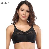 Godier Brand Sexy Lace Women Bra Plus Size C D E F G Cup Big Size Bralette Ultrathin Pure Cotton Wire Free Brassiere Underwear