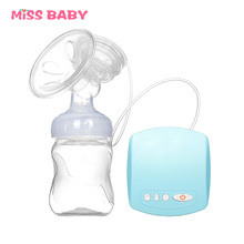 Miss baby Electric Breast Pump Powerful Nipple Suction USB Baby Feeding Breast Pumps  Automatic Massage Breast Pumps BPA Free