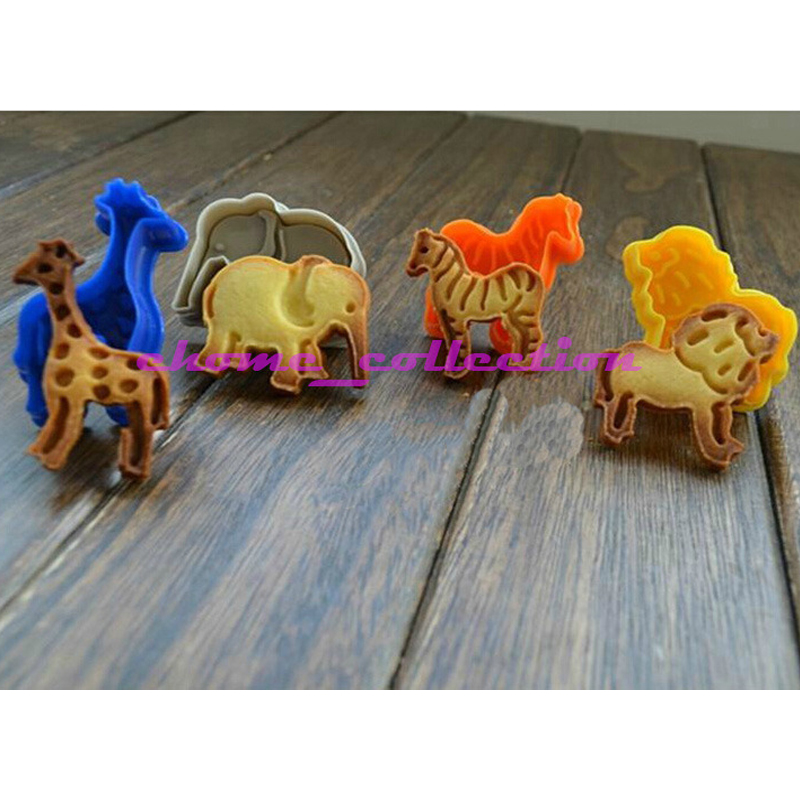 Elephant Cutter For Cake Decorating : 4Pcs Zoo Animal Shape (Lion/ giraffe/zebra/elephant ...