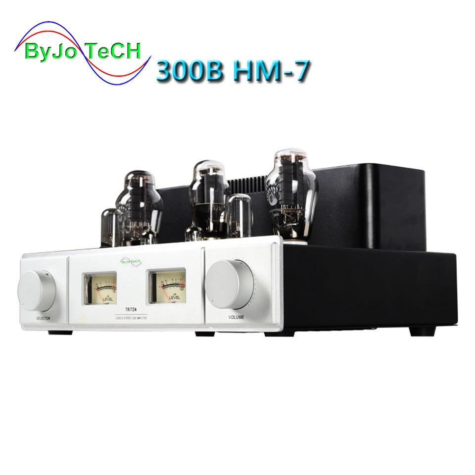 ByJoTeCH 300B HM-7 Bluetooth Tube Amplifier Single Ended Tube Amplifier 5Z3P Rectifier Hifi Stereo Audio Tube Amp 220V or 110V цена