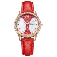 Alta qualidade à prova d' água diamante das mulheres relógio de pulso mulher cristal relógios senhoras subiram relógio de ouro da moda reloj mujer