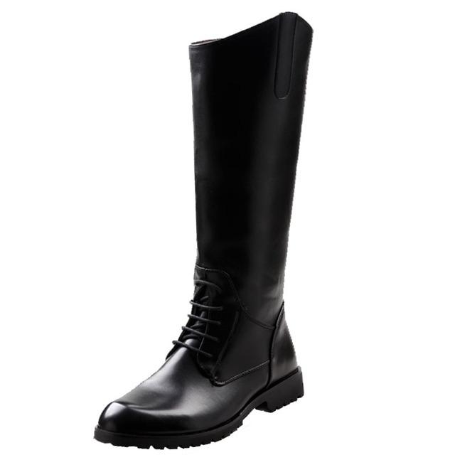 2016 Otoño Invierno de La Manera Medio de La Pierna botas Martin Botas para Hombre de Calidad Masculina Militar de Largo Botas de Moto