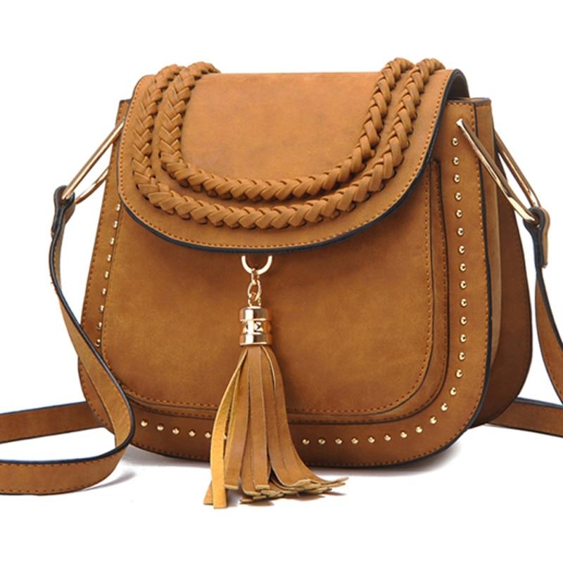 Hot Sale Tassel Women Bag Leather Handbags Cross Body Shoulder Bags Fashion Messenger Bag Women Vintage Handbag Bolsas Femininas шина bridgestone turanza t001 195 65 r15 91v