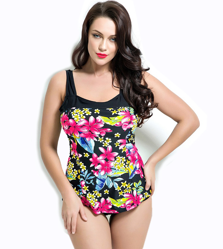 Thong One Piece Swimwear Large Size Swimsuits Floral Printed Sexy Halter Neck Bathing Suit Women Maillot De Bain Femme 2017
