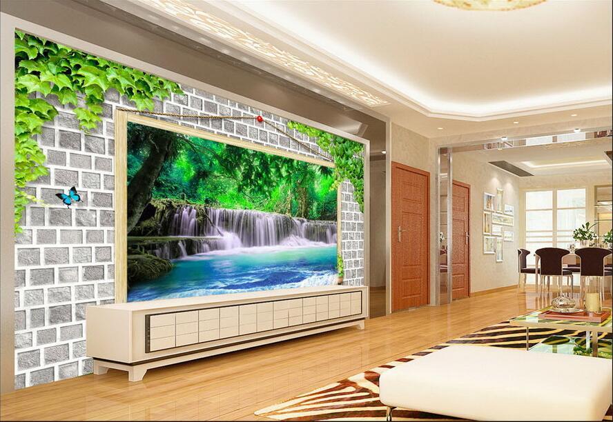 ⊹custom foto d behang non woven muurschildering foto d groene