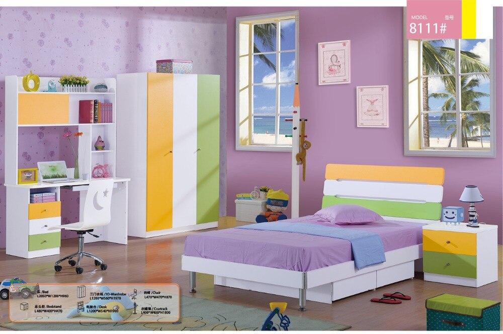 Child Desk Chair Promotion Wood Meuble Enfant Kids Table And Chair Loft Bed Set Kindergarten Furniture Childrens Bedroom Sets