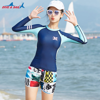 UPF 50+ Fit Long Sleeve Sun Guard Great For The Beach, Swimming, Snorkeling Matching Couples Womens Rash Guard Shirt Beach Trunk