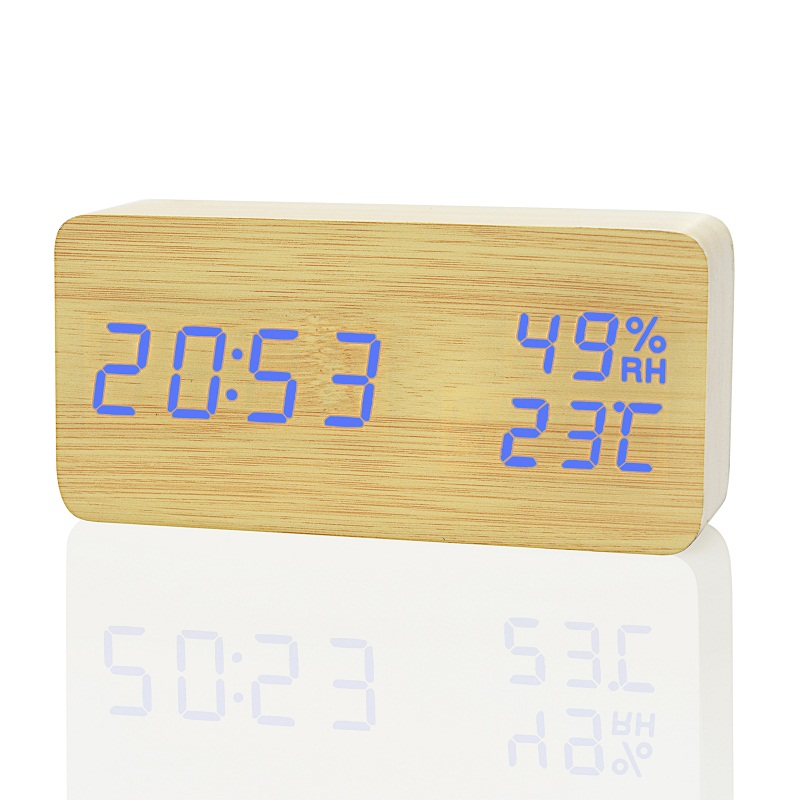 Image 5 - FiBiSonic Modern LED Alarm Clock,Despertador Temperature Humidity Electronic Desktop Digital Table Clocks-in Alarm Clocks from Home & Garden