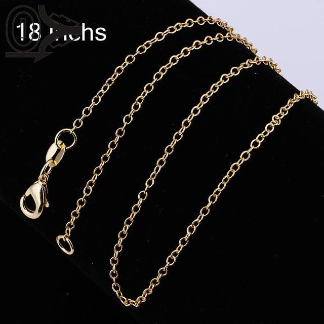 Free Shipping 925 Sterling Silver Chain Fine Fashion Silver Jewelry Chain Gold Thin Chains Top Quality SMTC003