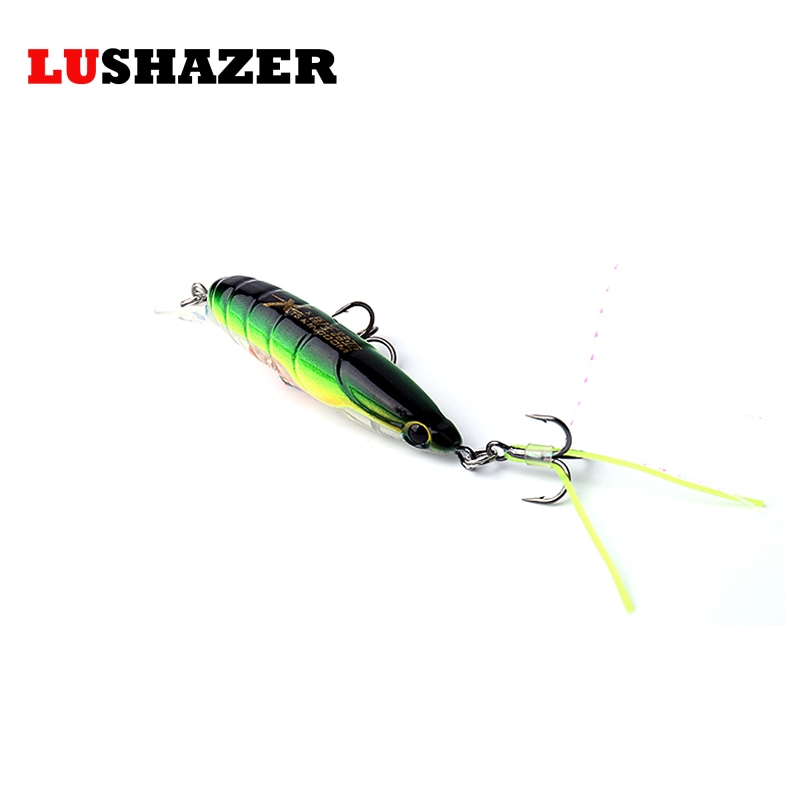 LUSHAZER fishing lure minnow lure 45mm/3g diving 0.2-0.4m insect lure fish bait cheap fishing lures free shipping lushazer fishing lure crank lures 45mm 11g minnow fishing bait wobbler crankbait hard lure china isca artificial free shipping