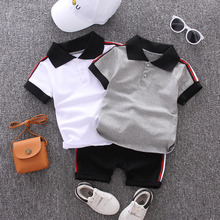 赤ちゃんボーイズ服セット夏トップスショーツ綿子供キッズスポーツスーツ1st誕生日衣装幼児正式な服セット
