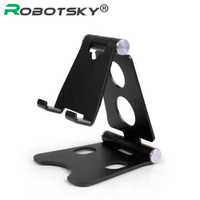 O Robotsky Universal Suporte Do Telefone Móvel Ajustável Para iPhone Huawei Xiaomi Liga Mesa Suporte Do Telefone Tablet Dobrável Suporte de Mesa