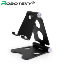 Robotsky العالمي قابل للتعديل حامل هاتف المحمول آيفون هواوي شاومي سبيكة الهاتف حامل مكتب اللوحي للطي حامل سطح المكتب