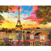 Embroidary 5D DIY Diamante Rodada Completa Broca Mosaic Paris Rua 3D Pintura Diamante do Ponto da Cruz kit Adesivo Home Decor TY073(China)