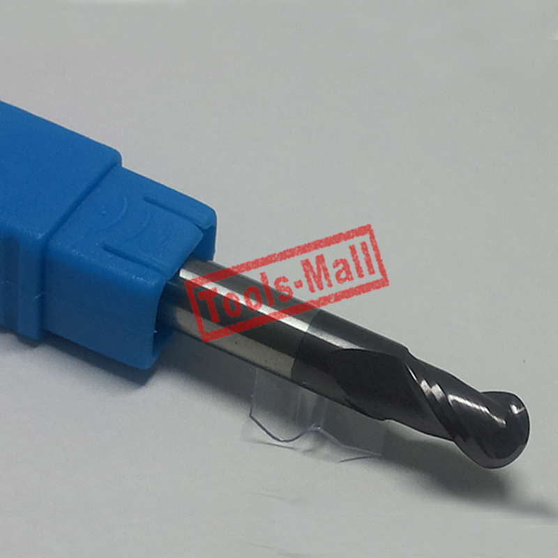 1pc radius=3mm 2 Flutes hrc60  R3*12*D6*75  solid carbide Ball nose End Mill CNC router bits tools Milling cutter
