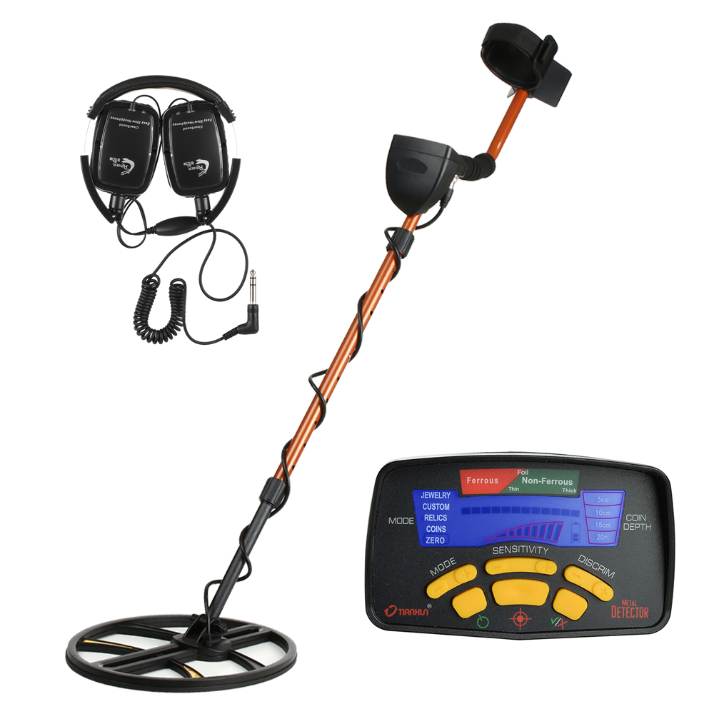 Sensitivity Underground Metal Detector Gold Digger Jewelry Hunting Treasure Search LCD Display Bigger Search Coil + Earphone md91 metal detector gold digger ground search treasure hot