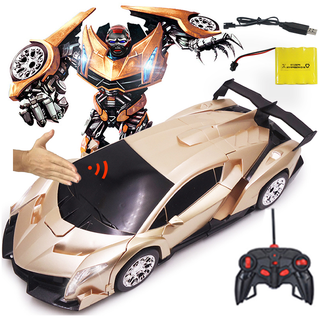 1:12 Remote Control 2In1 Deformation Toy 1/12 Deformation Sensor Induction Rc Car Transformation Robots Kids Toys Birthday Gifts free shipping luxury sportscar models deformation robot transformation remote control rc car toys kids gift tt662