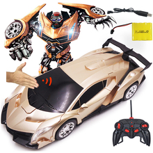 1:12 Remote Control 2In1 Deformation Toy 1/12 Deformation Sensor Induction Rc Car Transformation Robots Kids Toys Birthday Gifts