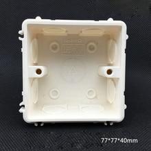 5pcs Splice Connected Fireproof Secret Stash Dark Bottom Box 86 Switch Socket Electrical Mounting Box 77*77*40mm Free Shipping