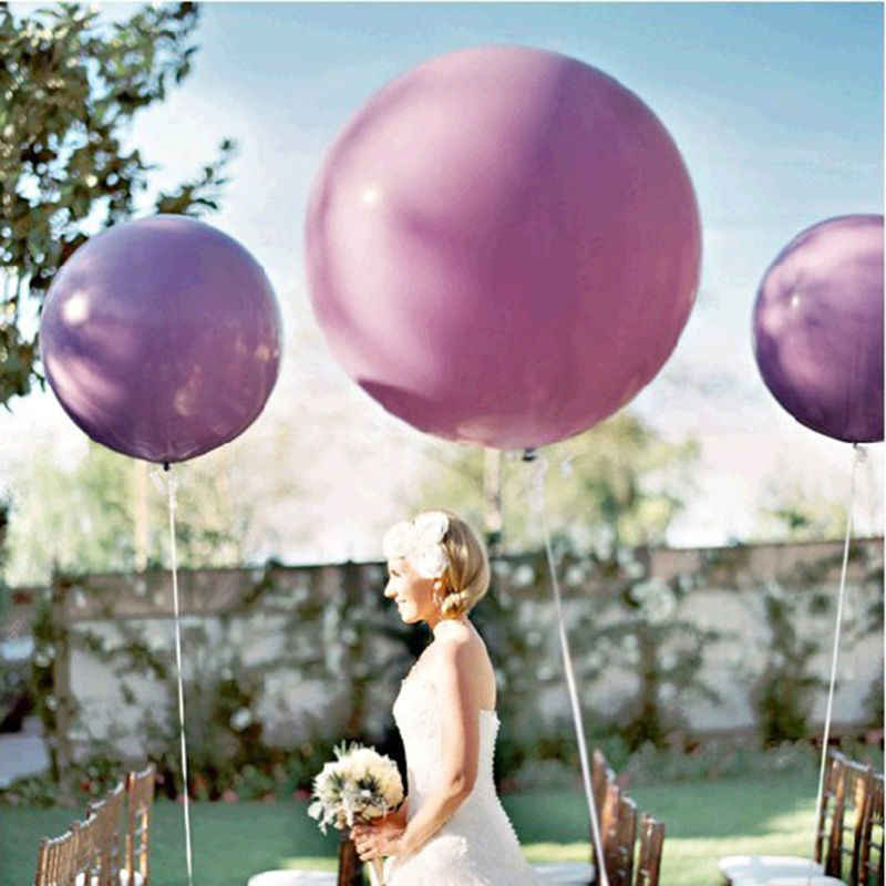 1pc 36 pollici Jumbo Pastello Rotonde Palloncini Grande Gigante Beautiful Wedding Palloncino Palle Arco Decorazione