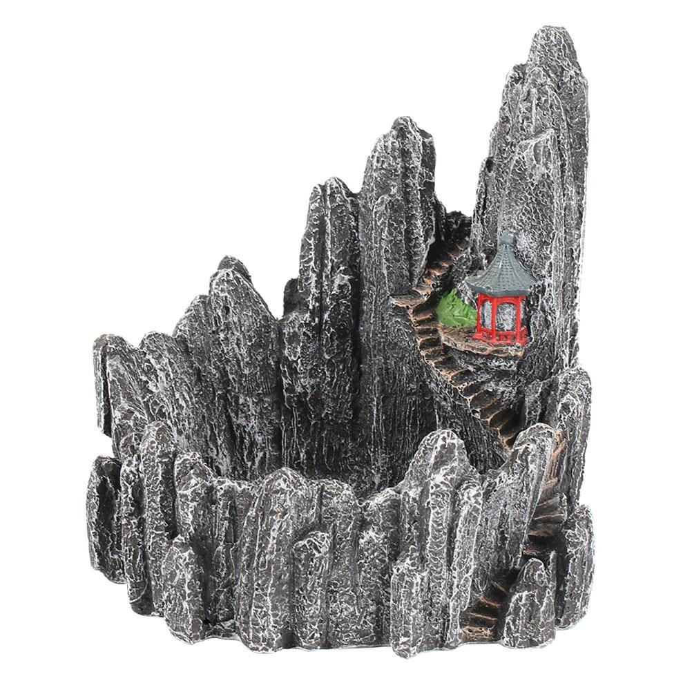 WINOMO Simulation Miniature Rock Mountain Hill Cliff Flower Succulent Plants Pot Holders Plant Garden Pots Sculpture