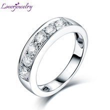Loving VS Clarify Diamond Wedding Ring Real 18K White Gold for Couple Engagement Fine Jewelry Gift