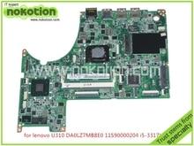 Brand Mainboard 11S90000204 DA0LZ7MB8E0 For lenovo ideapad U310 Laptop mainboard I5-3317U CPU DDR3 HD4000