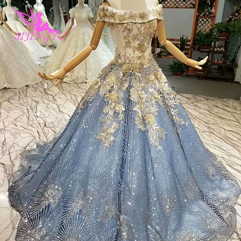 AIJINGYU Wedding Dress Boho Gothic Ball Gown Amazing Shops Frocks Design Satin Gown Collection Shop Dresses For Wedding