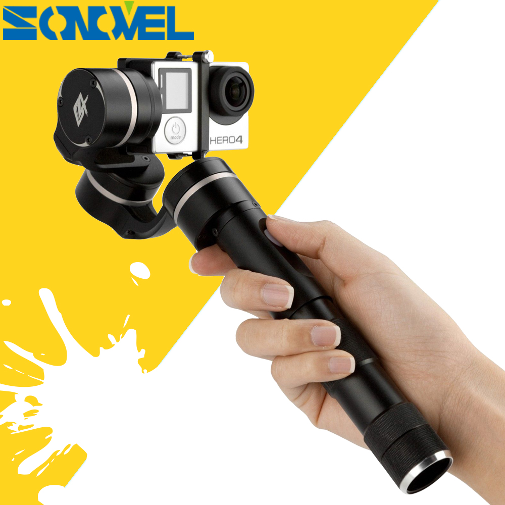 Feiyu Tech G4 FY-G4 3-Axis Handheld Gimbal for GoPro Hero 4 /Hero 3+/ Hero 3 and Other Sports Cameras of Similar Size feiyu fy g4 3 axis handheld gimbal brushless handle steadycam camera mount for gopro hero 3 3 4 compatible with gopro3 lcd