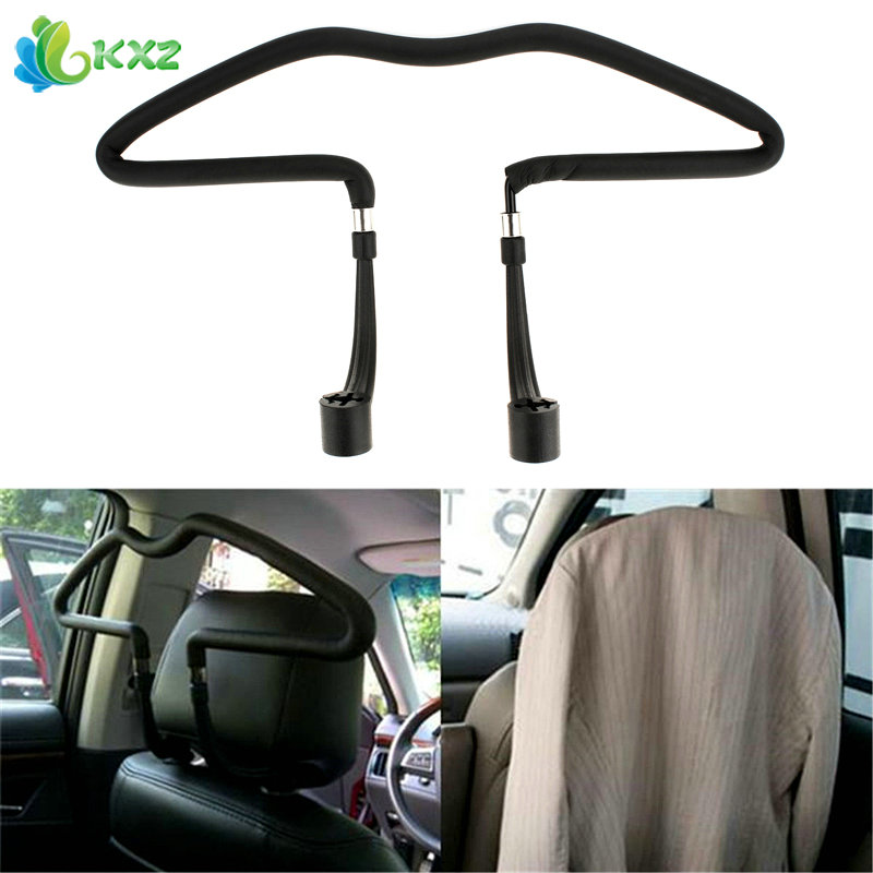 Stainless steel Car Scalable Hangers Back Seat Headrest Coat Clothes Hanger Jackets Suits Holder Rack Auto Supplies For vw mazda utility convenient car auto seat headrest clothes coat suit pattern driver passenger vehicle hanger car styling accessions